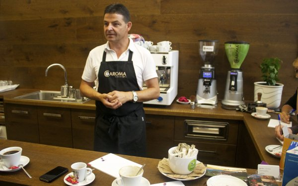 coffee facts from Valentin Hofer, Italy's first coffee sommelier
