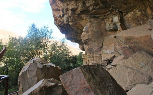 Giants Castle main cave in the Drakensberg South Africa is home to over 500 bushmen paintiings