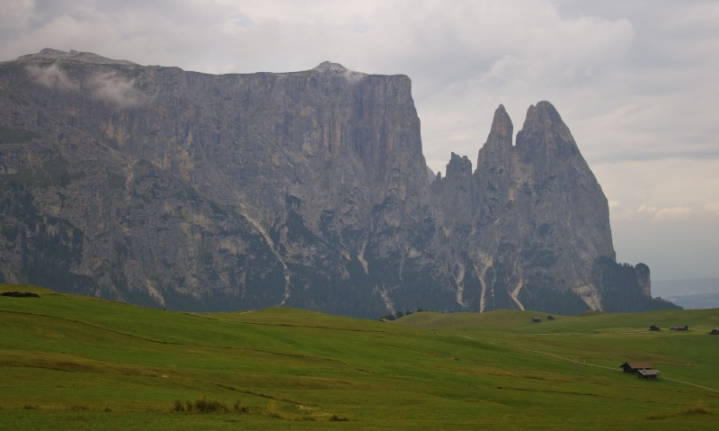 The Dolomites right before it rained.
