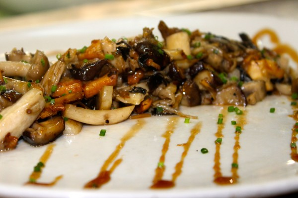 eat like a local, mushroom tapas at La Boqueria in Barcelona Spain
