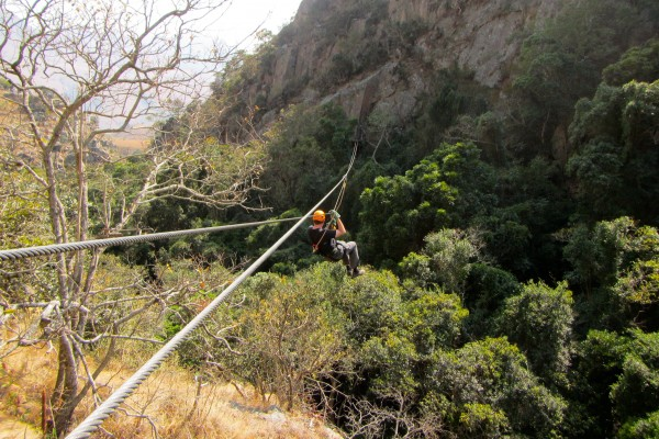 One of the slides on the Malolotja Canopy Tour in Swaziland