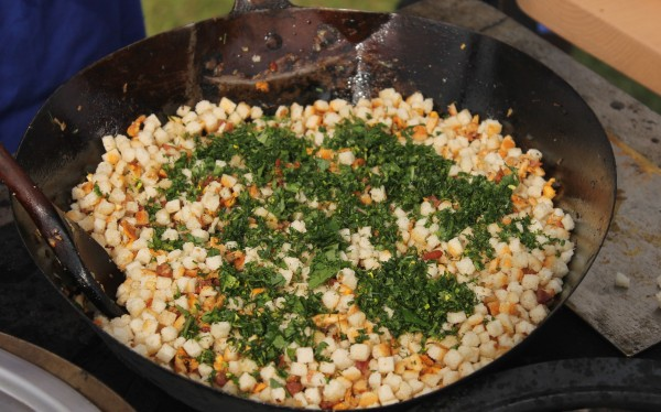 how to make dumplings-Step 2 add herbs