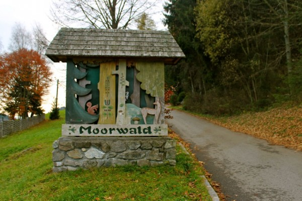 entrance to the bog forest (Moorwald) in Bad Leonfelden, Austria