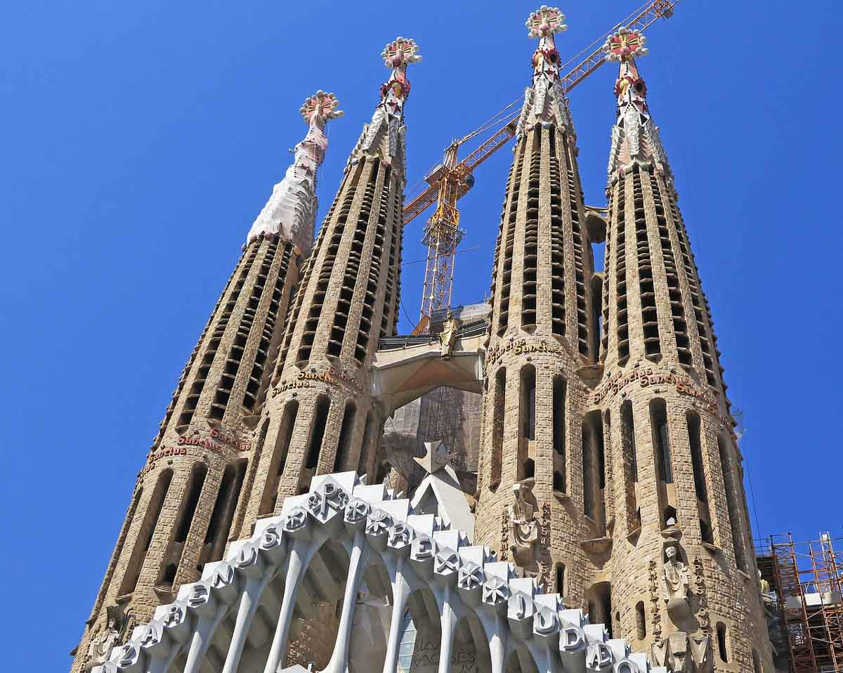 When visiting Barcelona you must visit Gaudi's Sagrada Famila, the most visited monument in Spain