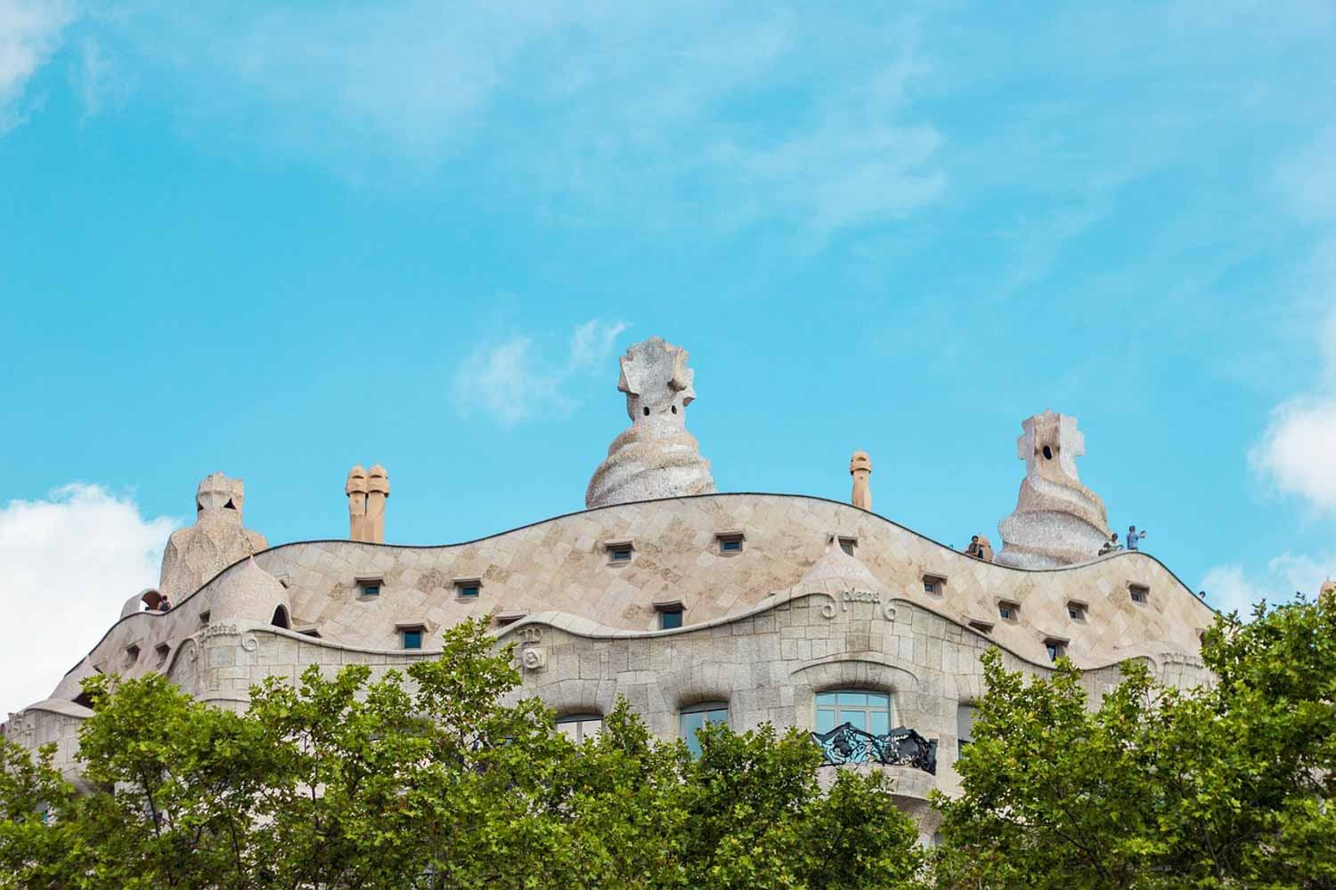 You can tell a Gaudi building just from looking at the roof.