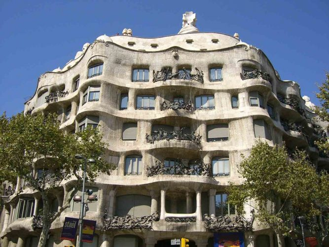 You can visit Casa Milia both during the day or at night.