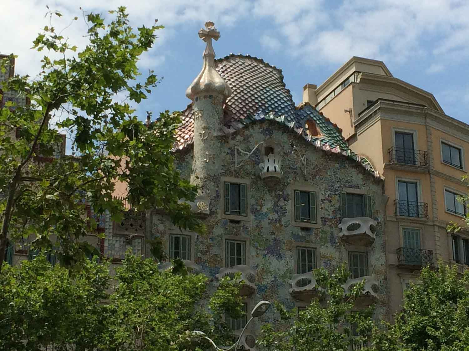 Casa Batlló was a private house that Gaudi was commissioned to redesign.