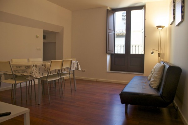 living room in our Wimdu apartment in Girona, Catalonia, Spain