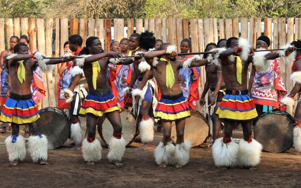 Swazi traditional dancing