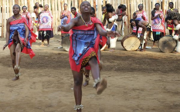 Swazi traditional dancing - Swaziland
