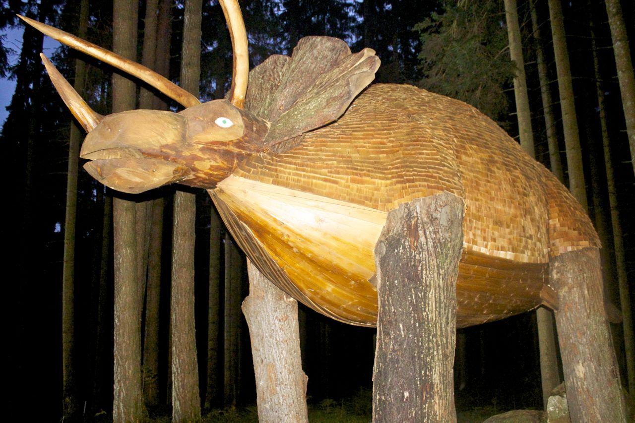 sculpture in the bog forest (Moorwald) in Bad Leonfelden, Austria
