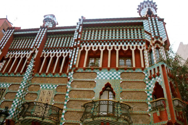 Casa Vicens, a famous Gaudi house in Barcelona, Spain