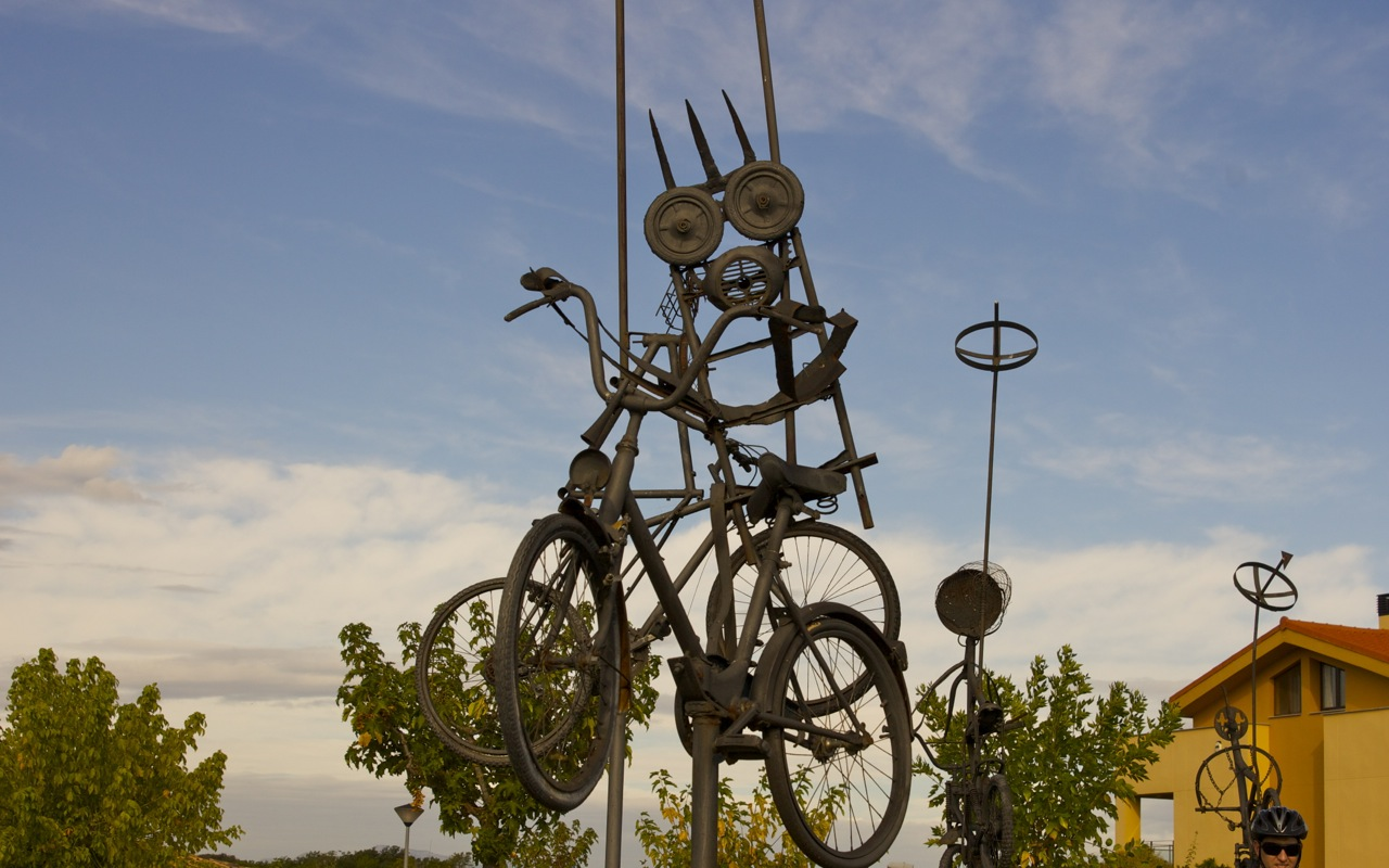 responsible tourism-sculpture made by teens in Costa Brava, Spain
