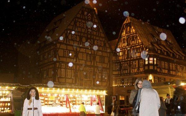 Christmas Market in Rothburg ob der Tauber, Bavaria, Germany