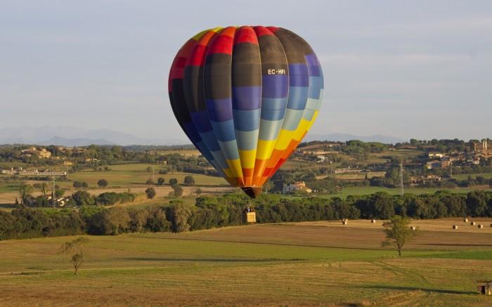 Costa Brava, Catalunya, Spain: as seen from a hot air balloon