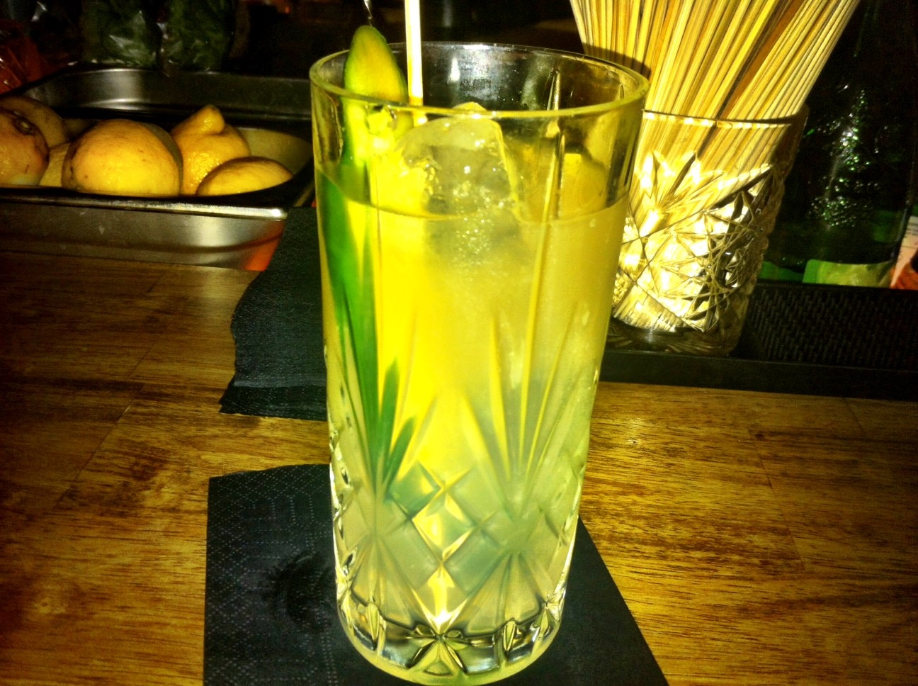 A Moscow mule, a Berlin hipster drink served at August II
