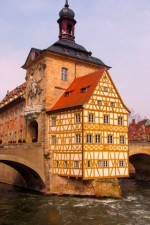Bamberg town hall and river