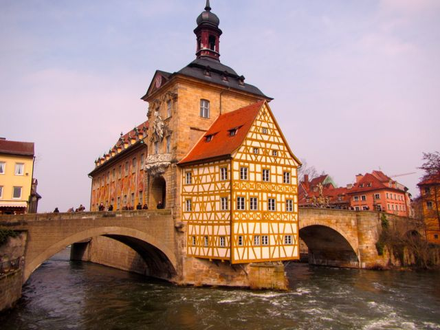 Bamberg town hall, Germany's largest UNESCO site.