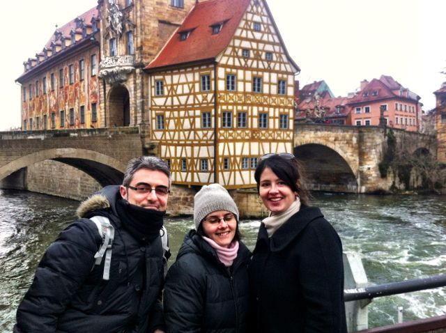 Me in front of the Town Hall with fellow blogger Isabel and her boyfriend.