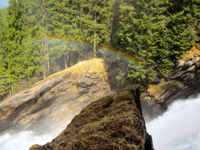 Rainbow at Krimml Waterfall in Hohe Taurern National Park, Austria