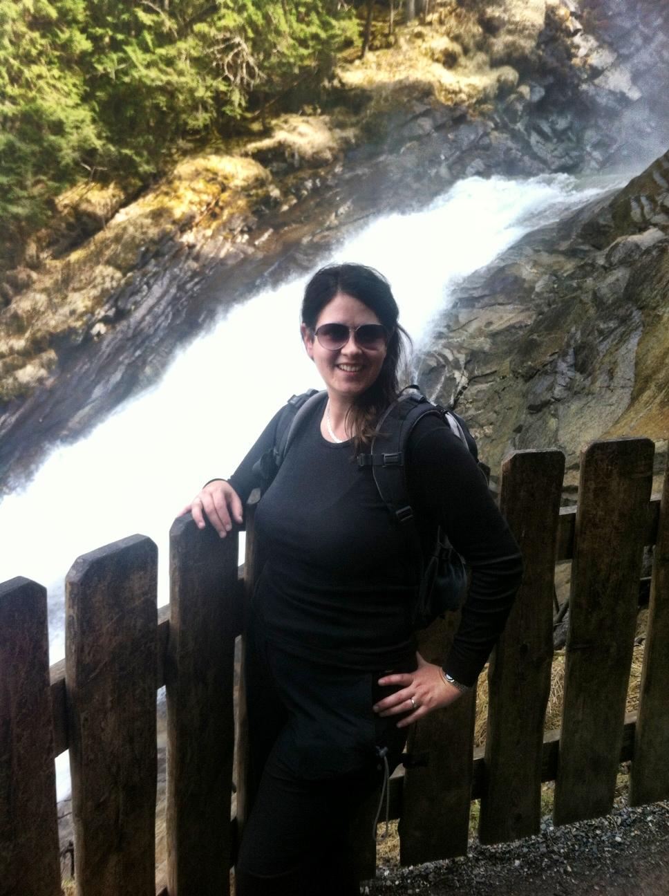 Me enjoying Krimml Waterfall at one of several viewing platforms.