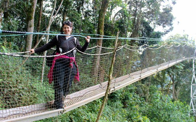 Nyungwe Forest me on canopy in Rwanda