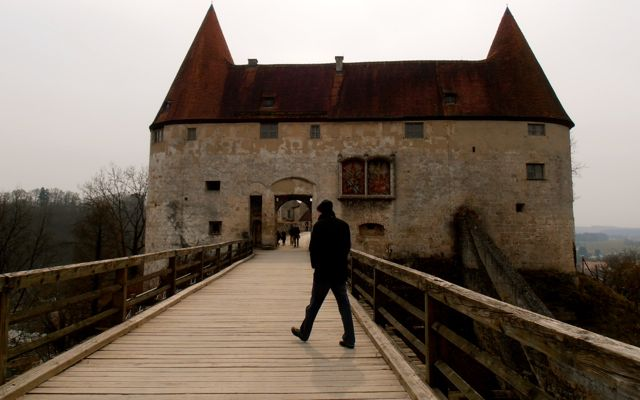 Drawbridge to Burghausen Castle.