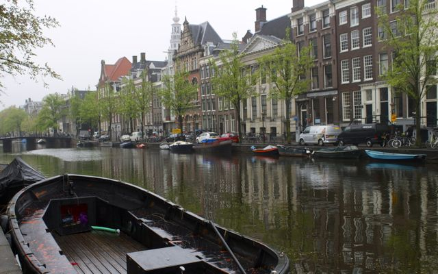 One of the famous Amsterdam canals