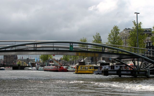 One of the 1500 bridges over the canals in Amsterdam.