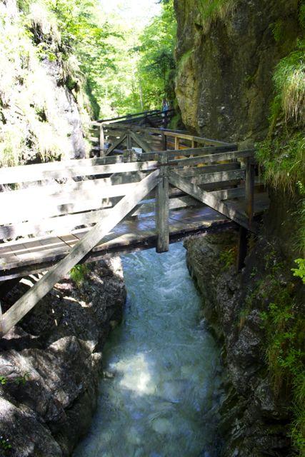 HOLZweg (Wood weg) hiking path through the gorge is beautiful.