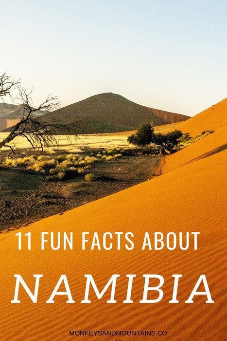 11 facts about Namibia including the Namib desert to the photo
