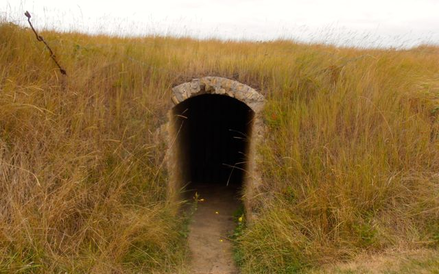 One of many bunkers found in the open-air military museum