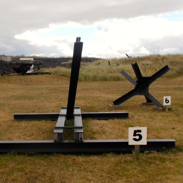 Obstacles hidden along the coast of the North Sea to prevent the Allies from approaching