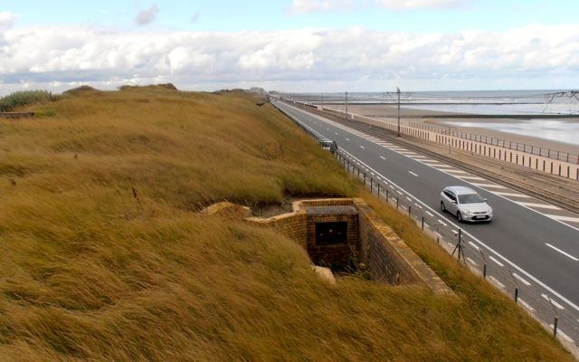 The Atlantic Wall was very strategically located, meeting the North Sea.