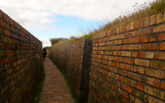 The open-air military museum houses more than 2km of trenches that visitors can walk through.