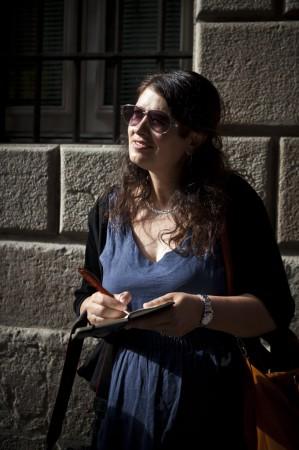 Laurel Robbins in Barcelona's Gothic Quarter