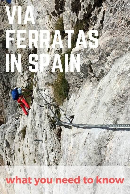 what it's like to do a via ferrata in Spain