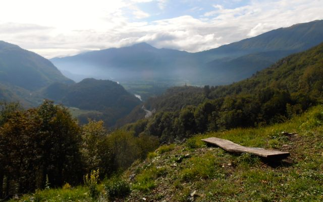 hiking near Kobarid in Slovenia