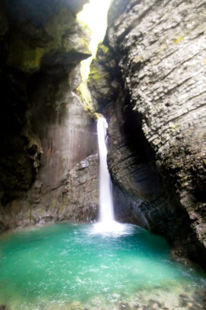 Veliki Kozjak Waterfall is accessible only by a slippery hiking path, but worth the trek.