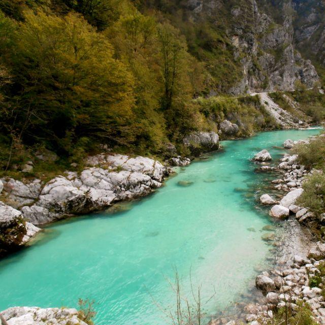 The incredibly pristine Soca River.