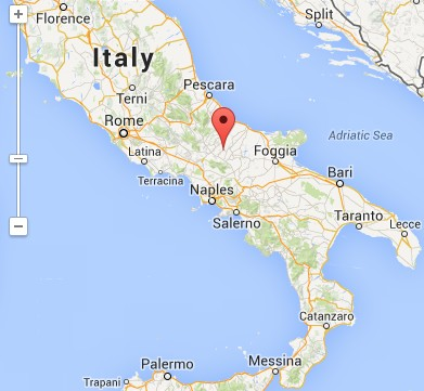 Map of Molise, Italy