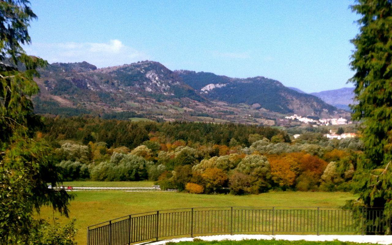 Mountainous landscape seen from Montedimezzo Nature Reserve