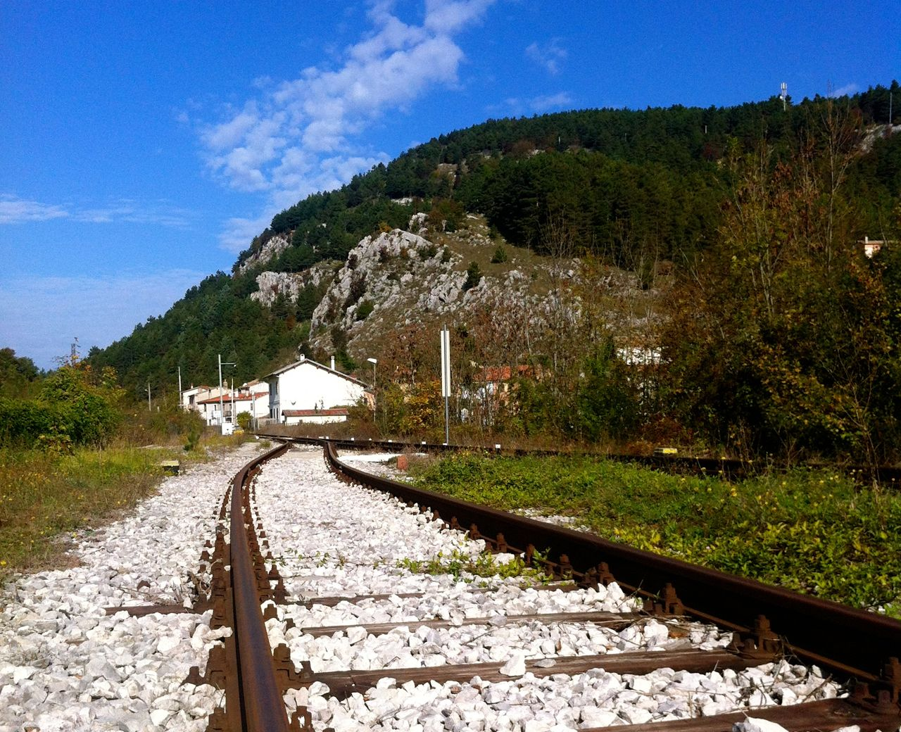 Train travel through Molise is a relaxing way to explore the countryside.