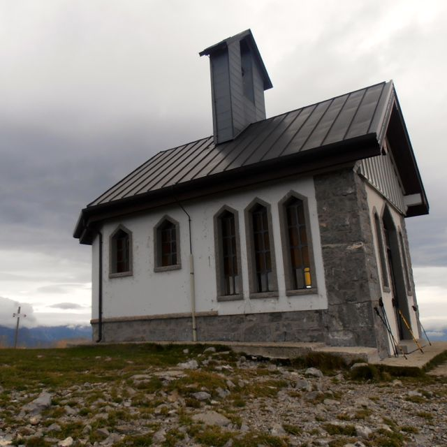 Small chapel at top of Mt. Matajur