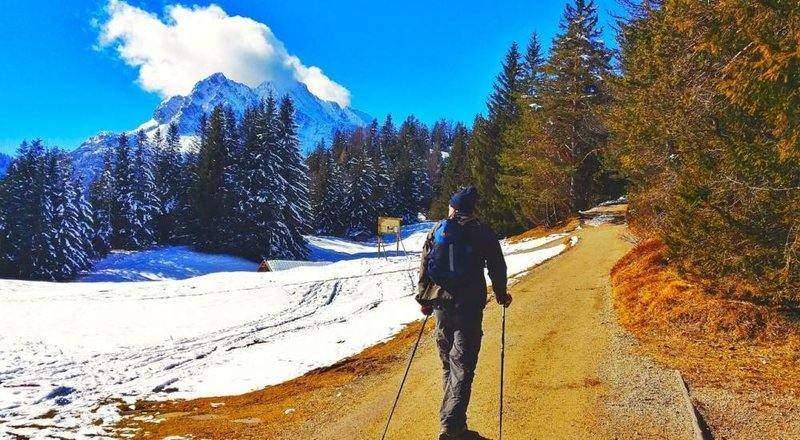 Winter hiking in Bavaria