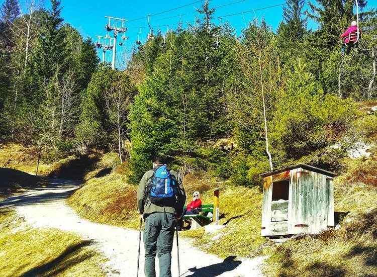 The start of the hike near the Kranzberg Sessellift (Chairlift)