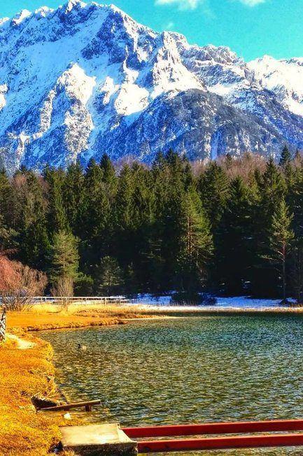 Lautersee, Lauter Lake near Mittenwald