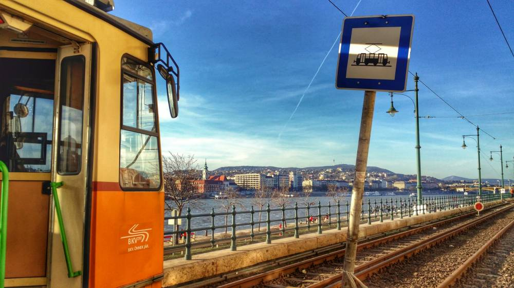 Tram #2, in Budapest, the most scenic tram journey in Europe.