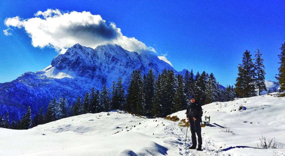 Near the summit of Hoher Kranzberg in February