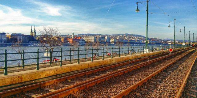 Scenery along Tram line #2 on the Danube